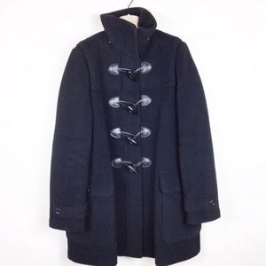 Burberry London Black Wool Toggle Duffle Coat